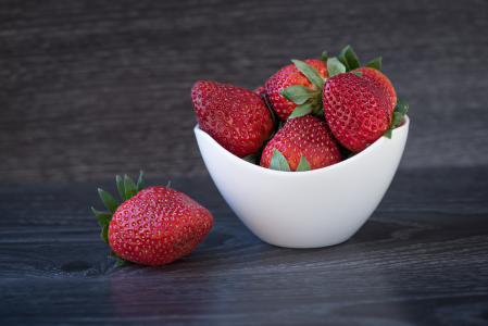 草莓, 红色, 成熟, 弗里施, 健康, 水果, 软的水果