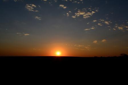 溶胶, 日落, 天空, 景观, 地平线, 红色, 自然