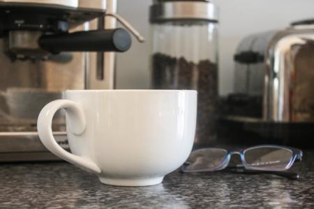 杯, 咖啡, 早上, 特浓咖啡, 卡布奇诺咖啡, 拿铁咖啡, 杯子