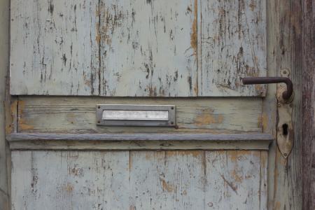门, 邮箱, 老, 木材, 木门, 古董, 前门