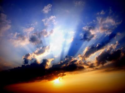 日落, 天空, 太阳, 云计算, 暮光之城, 自然, 云的天空