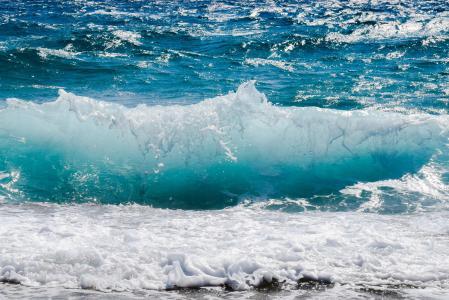 波, 粉碎, 泡沫, 喷雾, 海, 自然, 风