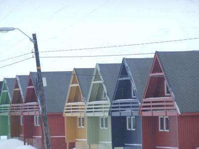 房屋, 颜色, 挪威, 雪