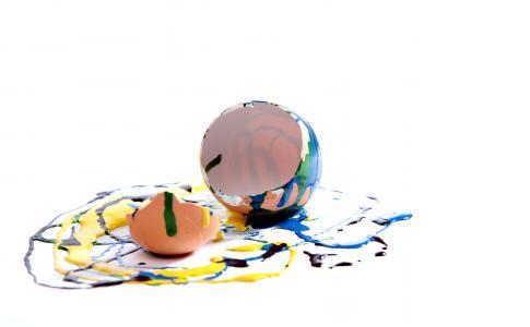 鸡蛋, 蛋壳, 母鸡的蛋, 壳, 破碎, 打开, 颜色