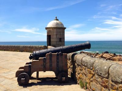 枪, 堡垒, 武器, 预订, 海岸, 海, 海景房