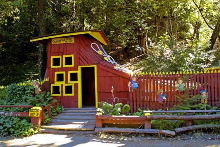 混乱山, 加利福尼亚州, 美国, 旅游景点, 红杉树, 森林, 自然