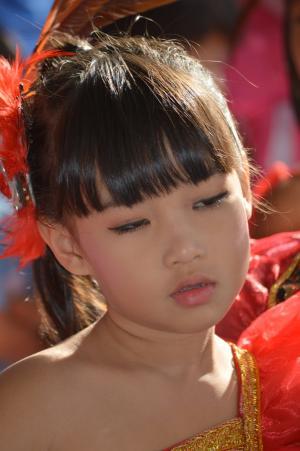 儿童, 肖像, 泰国, 脸上, 女孩, 人类, 视图