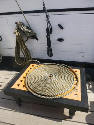 绳子, 小船, 帆船, 木材, 旧钻机