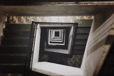 楼梯, 单位, 建设, 公寓, 建筑, 城市, 住房