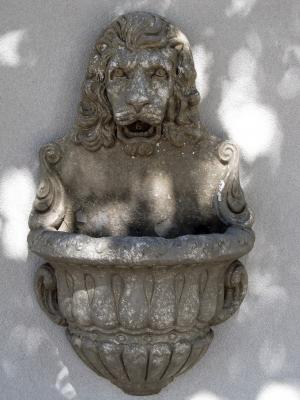 狮子的脑袋, 喷泉, 墙上, 装饰, 雕塑, 建筑, 装饰