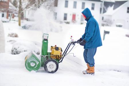 雪风机, 男子, 工作, 冬天, 雪, 感冒, 低温