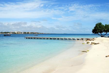 海滩度假村, 码头, 海洋, 海滩, 热带地区, 海, 海景