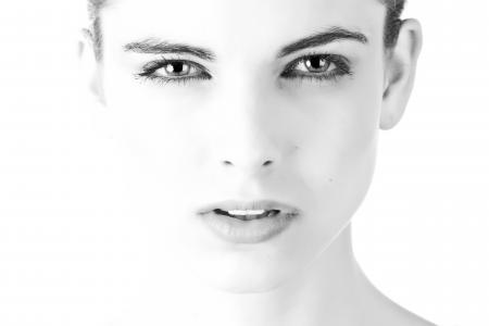 模型, 脸上, 美丽, 黑色和白色, 曝光, 联系人, 肖像
