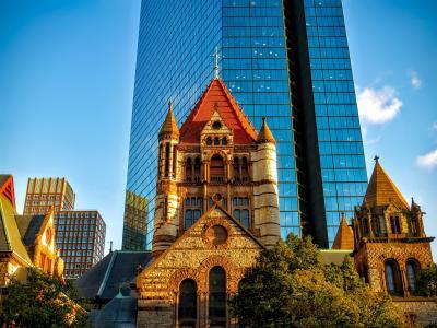 波士顿, 马萨诸塞州, 市中心, 城市, 城市, 城市景观, 摩天大楼
