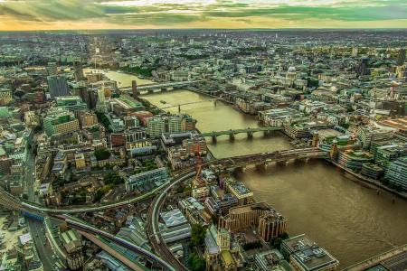 城市的景色, 全景, 伦敦