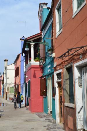 威尼斯, 布拉诺岛, 意大利, 布拉诺, 颜色, 色彩缤纷的房子, 街道
