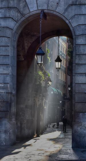 目标, 小巷, 通道, 回光, 大气, 气氛, 发光