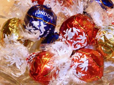 巧克力, lindor, 甜, 糖, 食品