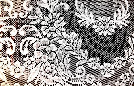 花, 模式, 窗帘, 网络, 隐私, 黑色和白色