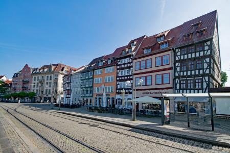大教堂广场, 埃尔福特, 德国图林根州, 德国, 旧城, 老建筑, 感兴趣的地方