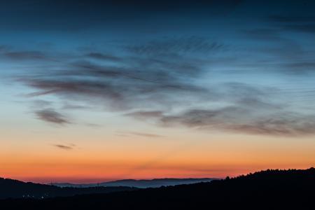 自然, 剪影, 天空, 日出, 日落, 山, 风景