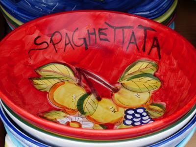 碗里, 板, 面食板, 面条盘, 意大利面, 意大利语, 陶瓷