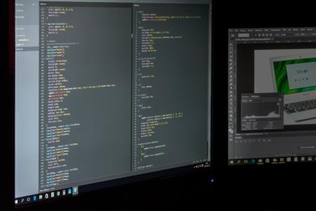 代码, 计算机, 数据, photoshop, 编程, 屏幕