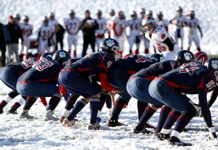 美式足球, 运动员, 感冒, 足球, 游戏, 冰, 男子