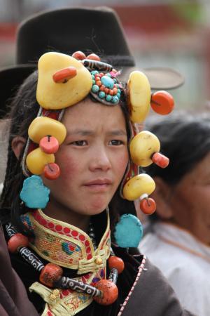 字符, 西藏民族, 小女孩, 文化, 亚洲, 土著文化, 人