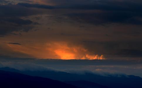 山, 日落, 返回页首, 云计算, 天空, 自然, 大自然的美