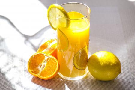 果汁, 多汁柑橘, 柠檬, 橙色, 太阳, 亮度, 太阳的光芒