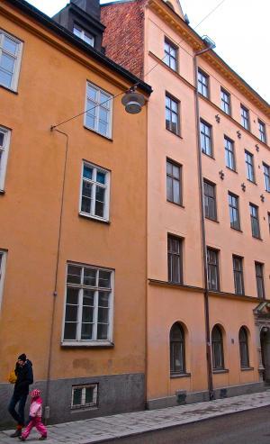 立面, 父亲, 女儿, 街头生活, södermalm, 斯德哥尔摩, 建筑