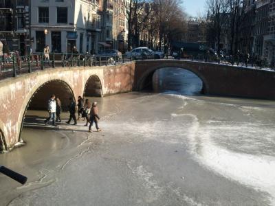 阿姆斯特丹, 运河, 冬天, 冰, 运河, 冻结