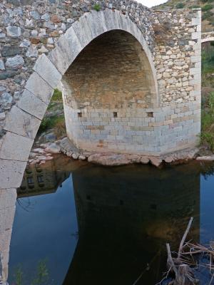 罗马桥, 石桥, 电弧, 河, 反思, 罗马式, 一起