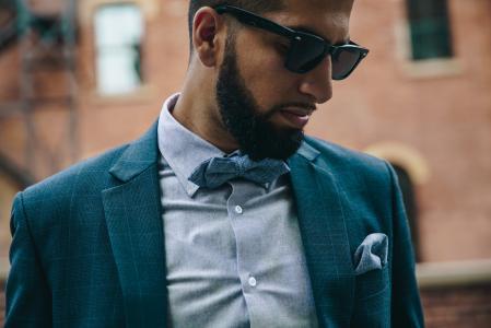 Man In Suit & Bowtie