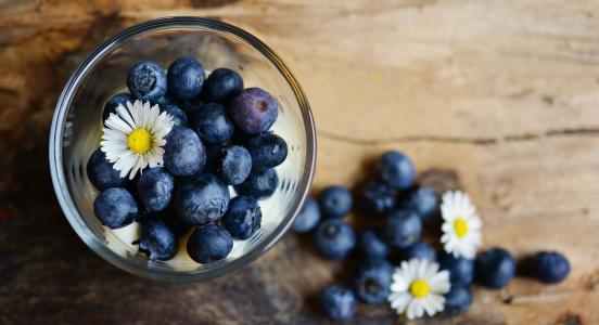 蓝莓, 甜点, 黛西, 水果, 水果, 蓝色, 浆果