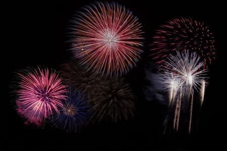 烟花, 天空, 一方, 新年除夕, 火箭, 烟火, 庆祝活动