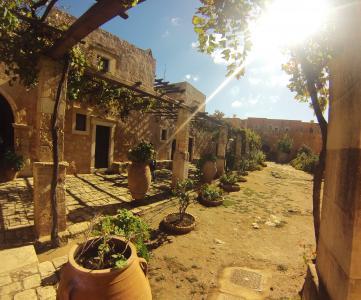 阿尔卡季, 克里特岛, 蒙, 修道院, 希腊, 建筑, 地中海