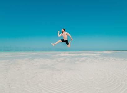 海滩, 蓝蓝的天空, 夏时制, 享受, dom, 乐趣, 地平线