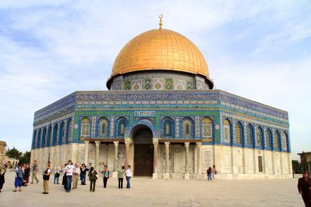 岩石圆顶, 圣殿山, 耶路撒冷, 以色列, 旧城, 真主, 祷告