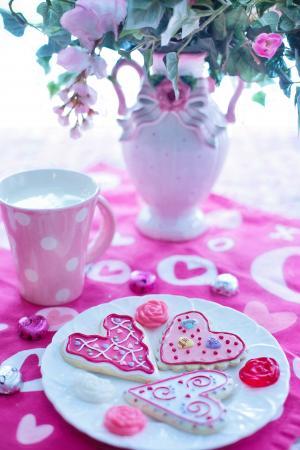 情人节那天, 情人节曲奇饼, 假日, 爱, 庆祝活动, 心, 粉色
