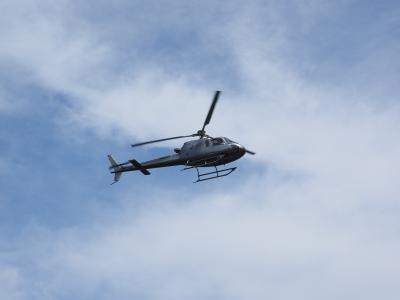 直升机, 飞, 飞机, 空气空间, 空气监测