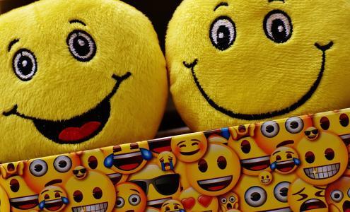 表情符号, 黄色, 有趣, 快乐, 图释, 表情, 笑脸