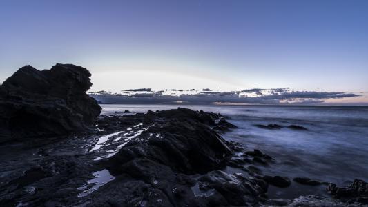 黎明, 海滩, guilche, 格拉纳达, 马拉加, 哥斯达黎加, 西班牙