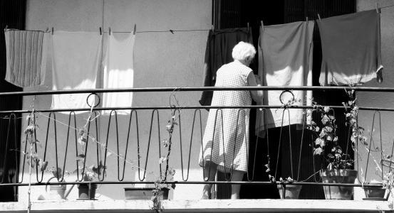老女人, 洗衣, 做家务, 家庭主妇, 女性, 国内, 女人