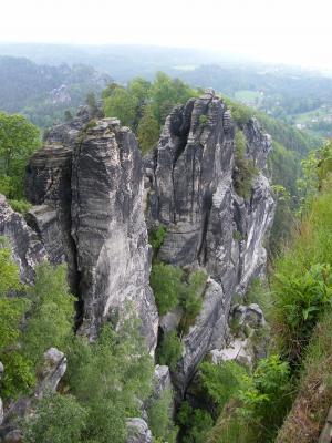 易北河砂岩山, schrammsteine, 易北河, 砂岩山, 撒克逊瑞士, 岩石, 前景