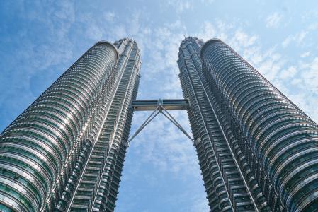 建筑, 建筑, 吉隆坡, 具有里程碑意义, 低角度拍摄, 马来西亚, 观点