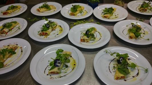 宴会, 餐厅, 素食主义者, 食品, 板, 晚餐, 顿饭