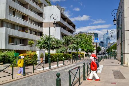 托, 郊区, 巴黎, 法国, 街道, 旅行, 城市