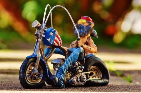 骑自行车的人, 自行车, 纹身, 美国, 很酷, 休闲, 有趣